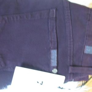 7 For All Mankind Jeans - 7FAMK  NWT Cranberry Skinny Jeans Sz 25 E73